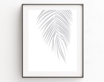 Tropical Printable | Palm Leaf Wall Art | Minimalism Poster