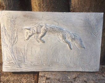 Wolf wall sculpture, wolf garden ornament, wolf sculpture, wolf picture, wolf gift, wolf art, wildlife art, wolf wall art
