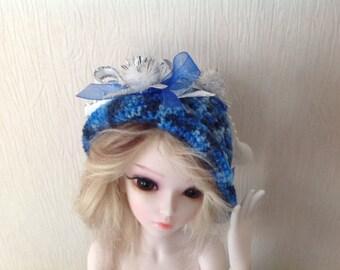 Blue Crochet Dolls Hat- BJD Dolls Hat- Crochet Hat