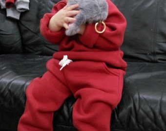 warm costume sweatshirt and trousers for children    suit different sizes Clothing Set