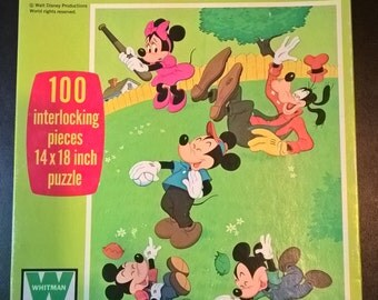 Vintage Mickey Mouse Baseball Puzzle  **FREE SHIPPING**
