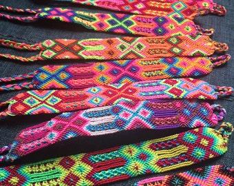 Hand woven bracelet of 24 threads / macrame friendship bracelet / boho folk hippie bracelet / mexican bracelets / knotted handmade bracelet