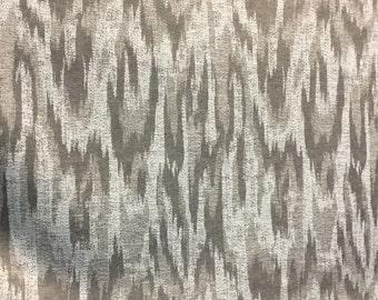 MODERN ALYSSA Linen Ikat CHENILLE Fabric  by the yard Multipurpose