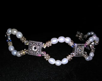 Freshwater pearl and Swarovski crystal tiara/headband
