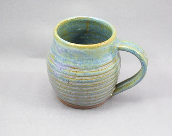 Pottery Coffee Mug Rutile Blue CHUN44