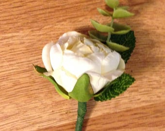 Angel wings boutonniere