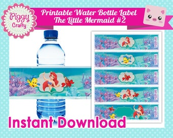 Printable Party Kit The Little Mermaid #2 Digital files DIY Print