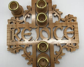 Rejoice Advent Wreath - Curly Soft Maple