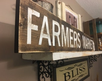 Farmers Market Rustic Distressed Ready to ship!