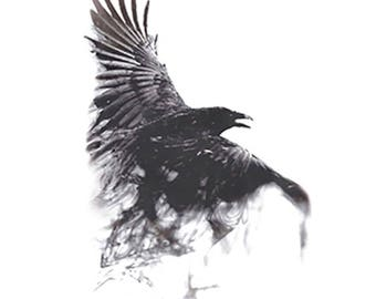 crow temporary tattoo/ animals tattoos/bird temp tattoo