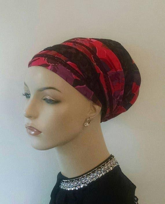 Fabulous silky cotton and black lace sinar tichel, tichels, head scarves, chemo scarves, head wraps