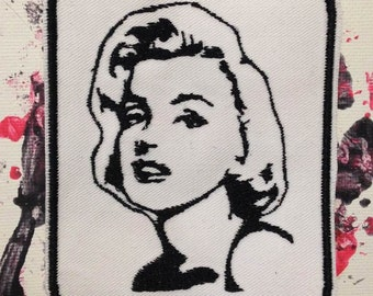 Marilyn Monroe patch, Norma Jeane, pinup girl, gift under 10 Venus sitting, movie star, vintage patch, gift for him gift for her