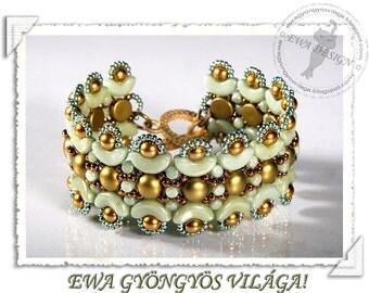 Lemina beaded bracelet PDF pattern