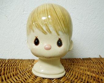 VINTAGE: Precious Moments Ceramic Doll Heads /  Large Ceramic Vintage Heads.