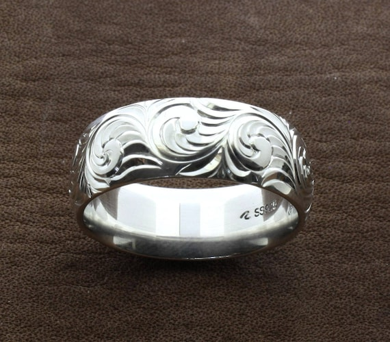 etsy wedding rings mens western wedding rings engraved ring custom couples 3942