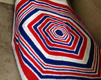 Crocheted throw blanket