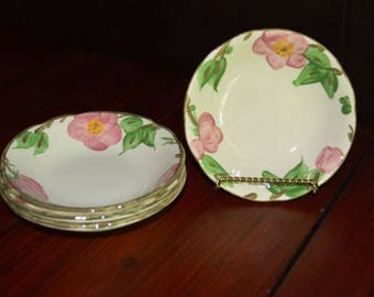Franciscan Desert Rose Fruit Bowls Flying F Backstamp - Set of 4