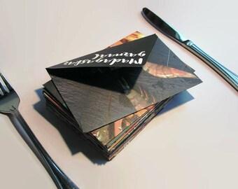 Food magazine envelopes (20), set of food lover culinary envelopes, handmade mini envelopes, personalized stationary, cash envelope, recycle