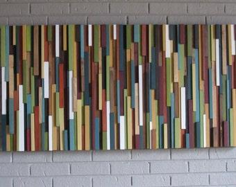 Wood art- wood wall art-art sculpture-modern wall art