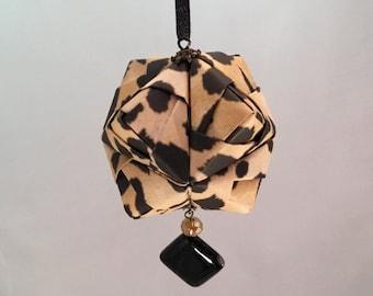 Animal Print Origami Christmas/Holiday Ornament