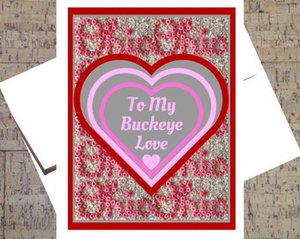 Ohio State Card, Funny Valentine Card, Funny I Love You Card, Buckeye Card, Valentine Card, I Love You Card, Anniversary Card, OSU Card