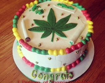 Weed, 420, Pot, Smoke, Birthday Cake Topper