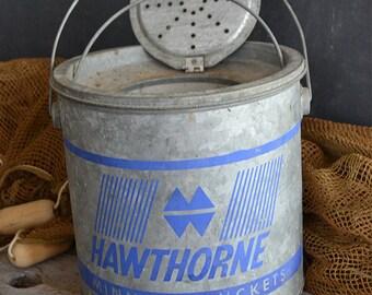 Vintage Hawthorne Minnow Bucket