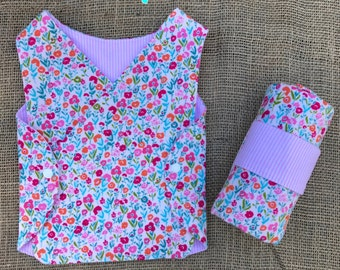 Blanket and NICU Gown Set for Preemie or Micropreemie - Choose your Fabrics!