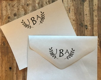 Personalized Monogrammed Stationary -laurel