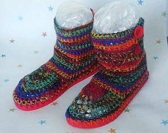 Crochet boots, bohemian flip flop, festival boots, beach shoes, crochet slippers, Gift for her, Crochet flip flops, Summer Boots, Boho Style
