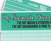 Favourite Shops Notes Pages Kit- Planner Stickers
