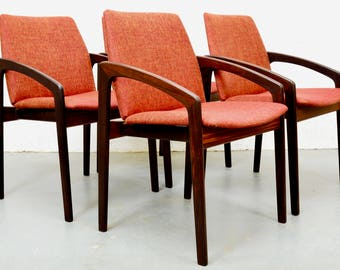 Mid-Century Rosewood Danish Chairs by Kai Kristiansen