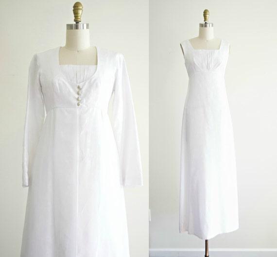 Vintage 1950s Wedding Dress And Jacket Set. Empire Waist 50s