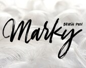 Marky Brush Pen - A Procreate Lettering Brush by Printable Haven made for the iPad Pro and Apple Pencil.
