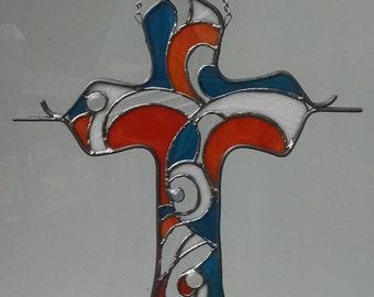 Stained Glass Cross  ( Custom Designed )