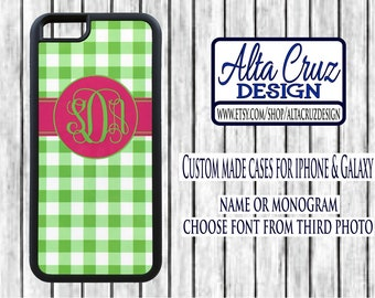 Personalized Monogrammed cell phone case, iPhone or Galaxy, name or monogram #138