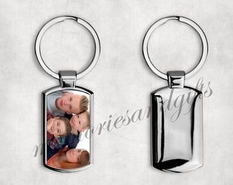 Personalised Metal Keyring Key Ring ( Print Your Photo / Image ) Pet With FREE GIFT BOX