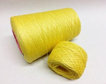 100g linen yarn 3ply linen thread yellow
