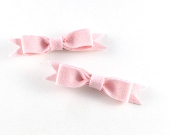 Pink Hair Clip - Merino Wool Felt - Hair Clip - Stocking Stuffer