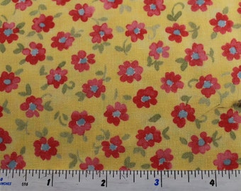 Nanette by  Chez Moi for Moda Fabrics  33162 Cream with Blue (12) Yellow with pink ( 17) and Cream with pink(17)