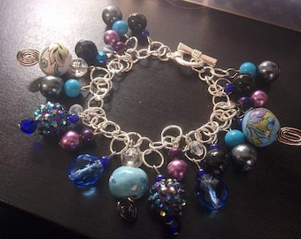 Blue/Purple Charm Bracelet