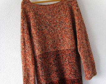 Oversized handknit sweater Plus size cotton sweater XXL soft sweater  Loose knit sweater Knit yarn cotton Plus knits pullover