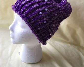 SALE** Purple bead hat