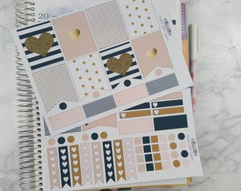 Black, Pink, and Gold Inspired Weekly Kit