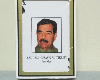 Saddam Hussein Husayn Iraq Iraqi Military Gemaco Poker Playing Cards Deck