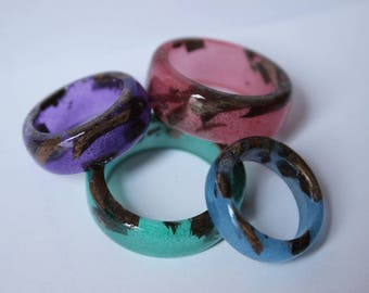 Wood and epoxy ring