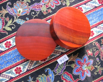 51mm Handmade Wooden Canarywood Ear Plugs Pair - Easy Care ( Overall size 52.4mm )