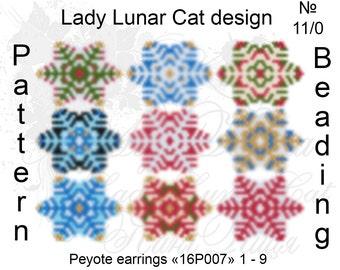 Snowflakes peyote patterns, Christmas patterns, Snow peyote, Winter patterns, Beading patterns, Beadwork patterns, New Year pattern