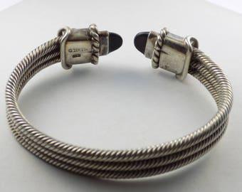 Sterling Silver Roped Cuff bracelet