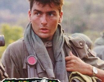 Platoon Charlie Sheen 1986  Rare Vintage Poster